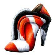 "Shoes:00052 ""FENDI"" Zebra-Print Calf Hair Fur-Trimmed Ankle Boots(FW2013)"