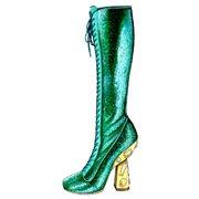 "Shoes:00093 ""miu miu"" Spangled Lace-up long boots(SS2014)"