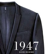 "『L'Officiel Hommes Italia』Fall/Winter 2014-15 5th anniversary issue』挿絵(2014年)""Dior Homme"" Smoking Jacket."