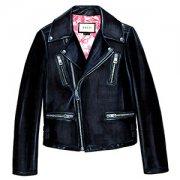 """GUCCI"" Leather biker jacket"