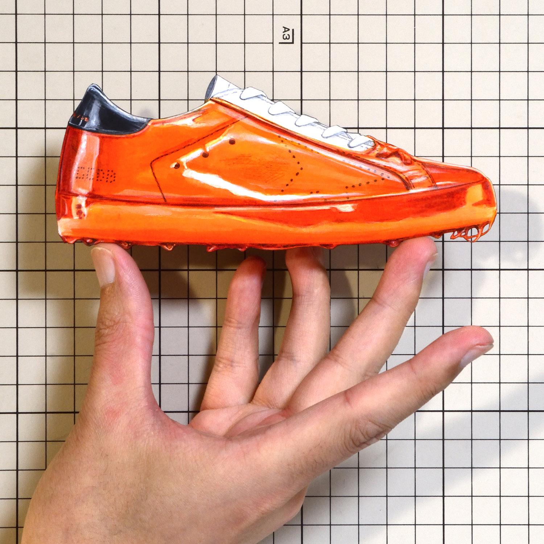 """Shoes:01010 """"GOLDEN GOOSE"""" Orange Skate Dip Superstar Sneaker(SS2018)"""